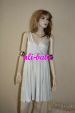Alice + Olivia Silver metallic dress goddess disco 1970 s  L 8 10 NWT $330