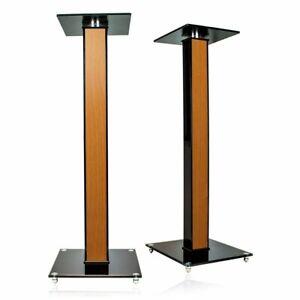 1 Paar Lautsprecherständer mit Dekoreinlage Boxenständer Lautsprecherpodest