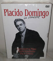 3 DVD PLACIDO DOMINGO - IN CONCERT - NUOVO NEW