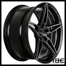 "19"" ACE AFF01 FLOW FORM BLACK CONCAVE WHEELS RIMS FITS NISSAN MAXIMA"