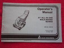 """1982 Allis Chalmers 21"""" All-In-One Walk Behind Mower Operators Manual"""