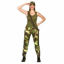 Army Girl Uniform Military Camouflage Soldier Adults Womens Fancy Dress Costume