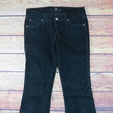 Seven For All Mankind Size 27 Black Bootcut Corduroy Pants