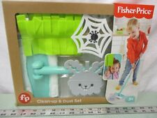 Fisher Price 2018 Clean-up & Dust Set Play Pretend Toy Dust Bunny Cobweb