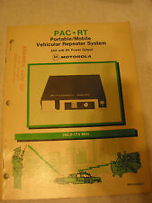 Manual for Motorola PAC-RT FM Mobile Repeater System Lot 1