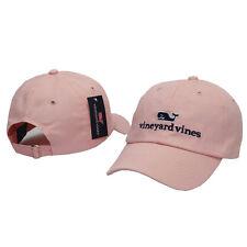 Vineyard Vines Pink Fashion Adjustable Baseball Cap Whale Sun Golf Casquette