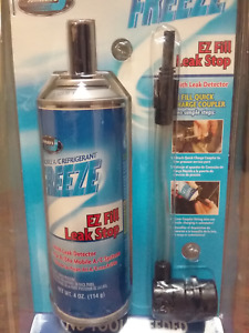 JOHNSEN'S AC Stop Leak A/C stop leak + RED U/V dye R134a EASY INJECTION NO MESS
