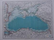 1918 MAP BLACK SEA ISTAMBOL CRIMEA TURKEY KASTAMUNI