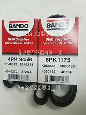 G35 Infiniti BELT KIT(Fits:2003-2006) Bando Air Cond/Steering/Alternator 2 PC
