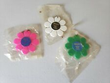 Three 1960's Nolde's Bread And Cakes Flower Design Key Chains