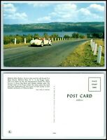 NEW YORK Postcard -Watkins Glen Harbor, Seneca Lake & Grand Prix Race Course Q59