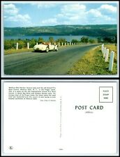 NEW YORK Postcard -Watkins Glen Harbor, Seneca Lake & Grand Prix Race Course Q59