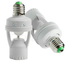 E27 LED Light Bulb Holder Socket Switch Infrared PIR Motion Sensor NEW