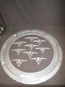 """Stargate SG-1 Chevron Model Kit (Stargate Model) Silver Finish 24"""" Diameter"""