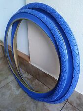 2- 26x1.95 Duro street bicycle tire comfort  beach cruiser mountain bike Blue