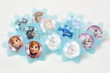 12 Disney Frozen Cake Cupcake Rings Birthday Party Favors Toppers