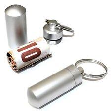 Keyring For Tablets Medicine Container Pill Box Aluminium - BUY 2 GET 1 FREE