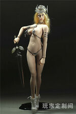 """Phicen 1:6 Scale God of War Female Sexy Metal Clothes Set F12"""" Large Bust Figure"""