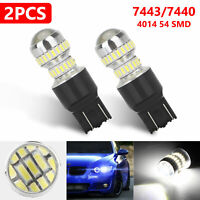 2pcs 54-SMD LED White BackUp Reverse Light Bulb 2800LM 7443 7440 6000K Projector