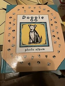 Doggie Photo Album for Pet Puppy Dog Pictures Cardboard Frames Inside Preowned