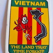"""DECAL A2230 VIETNAM THE LAND THAT TIME FORGOT  Vietnam flag 2.5"""" x3.5"""" sticker"""