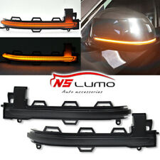 Smoked Side Mirror Blink Turn Signal Light Sequential For BMW X3 X4 X5 X6 Series