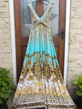 Glam Iconic Designer Inspired Leopard Baroque Print KDK Roberto Maxi Dress Gown