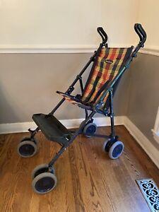 Maclaren Major Elite Special Needs Push Transport Chair Plain Navy Stroller Blue