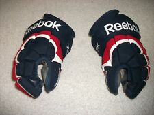 REEBOK 7 K ADULT 13 INCH HOCKEY GLOVES DECENT SHAPE NHL QUALITY BLUE,WHITE & RED