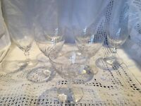 7 Good Quality VINTAGE Cut Glass Glasses For Sherry, Port Or Liqueur