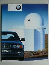 Prospekt BMW 3er E46 Lim. (316i,318i,320i,325i,330i,320/330d), 1.2001, 84 Seiten