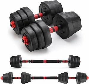 20kg Adjustable Dumbbell Barbell, Free Weights Fitness Dumbbell,