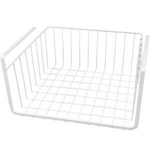 """Fil Blanc sous Étagère Rangement Organisation Panier 11 """" Emballage Rack Cuisine"""
