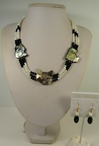 Lee Sands Shell Inlaid Cat Trio Cleopatra NK/ER Set Made in Hawaii