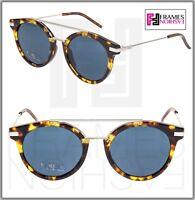 FENDI URBAN FF0225s Havana Blue Palladium Clubmaster Metal Sunglasses 0225 Unise