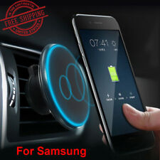 Car Wireless Charger Magnetic Holder Charging Cell Phone Dash Mount For Samsung