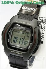HDD-600-1A Black 10-Year Battery Casio Men'sWatch Dual Time 100m Digital Daily a