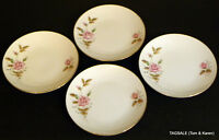 CX142 PINK ROSE by CHINA MADE IN CHINA ~ 4 bread & Butter Plates ~ 6 5/8""