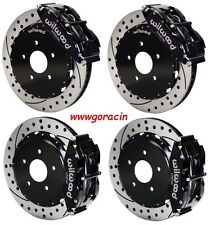 "Wilwood Disc Brake Kit,1965-82 Corvette C2 C3,14"" Drilled Rotors,Black Calipers*"