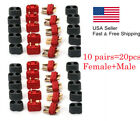 20pcs Male+Female Ultra Deans Plug Adapters Connectors For RC Lipo Battery