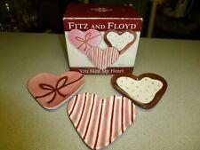 "Fitz and Floyd ""You Melt My Heart"" Snack Plates, Nib"