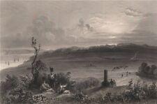 QUEBEC CITY. Plaines d'/Plains of Abraham, Battlefields Park. BARTLETT 1842