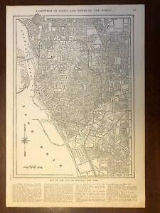1917 Buffalo, New York Map, Encyclopedic Atlas and Gazetteer