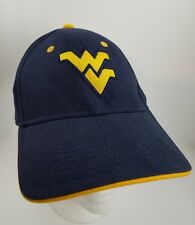 West Virginia Mountaneers Baseball Hat Cap Black Adjustable Embroidered