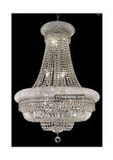 Classic Style Crystal Chandelier Round k9 Crystals Chrome Finish