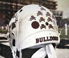 Bulldogs 3D Bumpers Helmet Decals Riddell Schutt 3-D Mississippi State Football