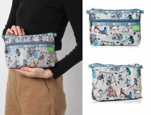 LeSportsac SESAME STREET Travel Makeup Pouch Cosmetic Case Bag Purse From Japan