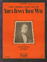 She's Funny That Way 1928 DICK ROBERTSON Vintage Sheet Music Q13