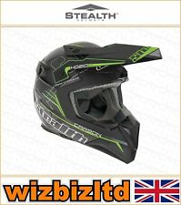 Stealth Motorcross Motorcycle Helmet [Adult Medium] [HD210 green] STH149M