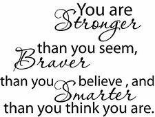Christopher Robin Winnie the Pooh You are stronger Vinyl Wall Decals Quotes
